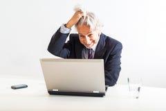 Frustrierter Geschäftsmann Lizenzfreie Stockfotos