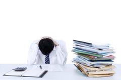 Frustrierter Geschäftsmann Stockfoto