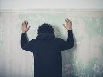 Frustrierter junger Mann lizenzfreies stockbild