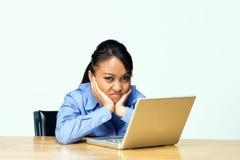 Frustrierter Kursteilnehmer-Horiz Stockfoto