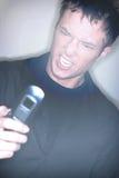 Frustrierter Mobiltelefon-Benutzer Lizenzfreies Stockbild