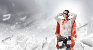 Frustrierter Supermann Lizenzfreies Stockbild