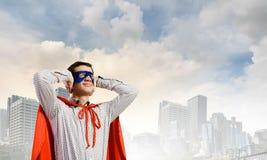 Frustrierter Supermann Lizenzfreie Stockfotos
