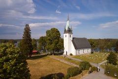 Frustuna church. Countryside church in Frustuna, near Gneasta in the Swedish province of Sodermanland during the summer season stock image