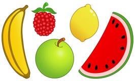 A fruta ajustou 2 ilustração royalty free