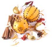 Fruta alaranjada e especiarias Foto de Stock