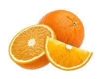 Fruta alaranjada isolada no fundo branco Imagens de Stock Royalty Free