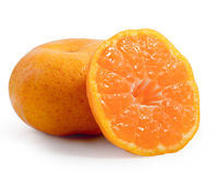 Fruta alaranjada no fundo branco Imagens de Stock