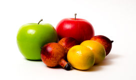 Fruta alegre, frutas misturadas Fotos de Stock Royalty Free