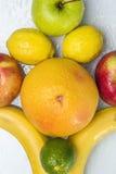 Fruta alegre, frutas misturadas Imagens de Stock Royalty Free