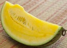 Fruta amarilla de la sandía Fotografía de archivo