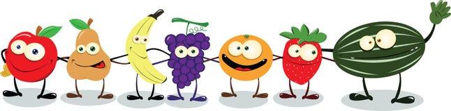 Fruta amigável Foto de Stock Royalty Free