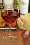 Fruta & queijo do vinho Fotografia de Stock
