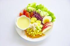 Fruta & salada dos vegetais Fotos de Stock Royalty Free