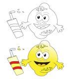 Fruta & suco do limão ilustração royalty free