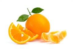 Fruta anaranjada aislada en el fondo blanco Foto de archivo libre de regalías