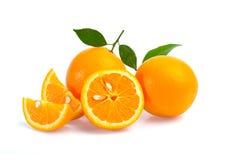Fruta anaranjada aislada en el fondo blanco Fotos de archivo