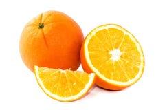 Fruta anaranjada aislada en el fondo blanco Imagen de archivo