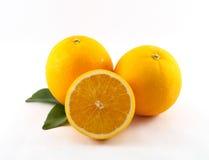 Fruta anaranjada de aislado Fotos de archivo