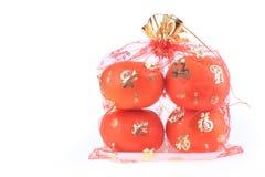 Fruta anaranjada de la fortuna en Año Nuevo chino Imágenes de archivo libres de regalías