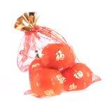 Fruta anaranjada de la fortuna en Año Nuevo chino Foto de archivo