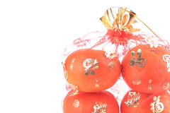 Fruta anaranjada de la fortuna en Año Nuevo chino Imagen de archivo