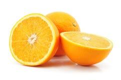 Fruta anaranjada de la fruta cítrica aislada en blanco Fotografía de archivo libre de regalías