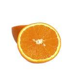 Fruta anaranjada en blanco Foto de archivo