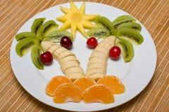 Fruta bajo la forma de palma Foto de archivo libre de regalías