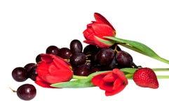 Fruta, bayas y flores Fotos de archivo libres de regalías