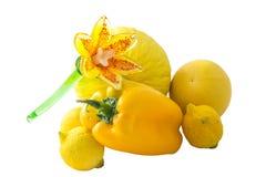 Fruta cítrica, amarillo de la fruta y verdura Foto de archivo