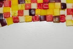 fruta c?trica, marco mezclado de la fruta fotos de archivo libres de regalías