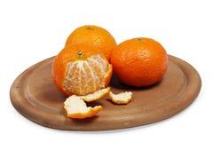 Fruta cítrica pelada Imagen de archivo libre de regalías