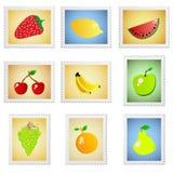 A fruta carimba o vetor Fotografia de Stock