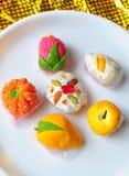 Fruta colorida doces dados forma Imagens de Stock