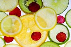 Fruta cortada Imagenes de archivo