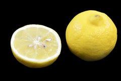 Fruta cortada del limón Fotos de archivo