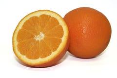 Fruta - corte de la naranja Foto de archivo