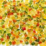 Fruta cristalizada no branco Fotografia de Stock Royalty Free