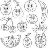 Fruta da coloração para miúdos ilustração royalty free