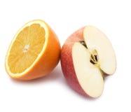 Fruta da laranja e da maçã Imagem de Stock Royalty Free