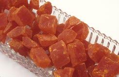 Fruta da papaia desidratada Imagens de Stock
