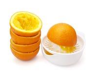 Fruta da preparação do sumo de laranja Fotografia de Stock