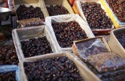 Fruta da tâmara no mercado Imagem de Stock Royalty Free