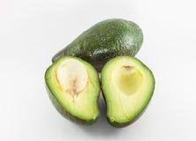 Fruta de abacate fresca no fundo branco Imagens de Stock
