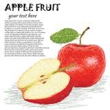 Fruta de Apple Imagens de Stock