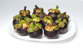 Fruta de doce mangostanes Foto de archivo libre de regalías