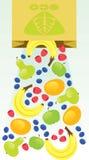 Fruta de Eco Fotografía de archivo libre de regalías