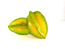 Fruta de estrella o Carambola en el fondo blanco Imagen de archivo