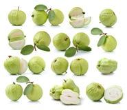 Fruta de guayaba aislada en el fondo blanco Imagen de archivo